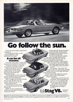 https://flic.kr/p/UthbyQ | 1977 Triumph Stag 3 Litre V8 Soft Top Or Hardtop Aussie Original Magazine Advertisement