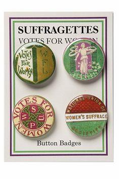 Suffragettes Badge Set - Votes for Women