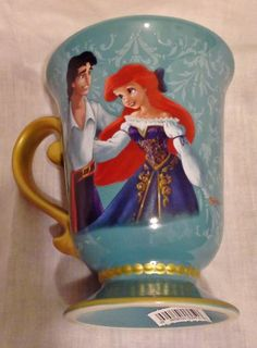 DISNEY FAIRYTALE DESIGNER COLLECTION ARIEL AND PRINCE ERIC MUG NEW
