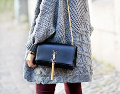 chunky cardigan & ysl bag - Simples! ...Now go forth and share that BOW & DIAMOND style ppl! Lol ;-) xx