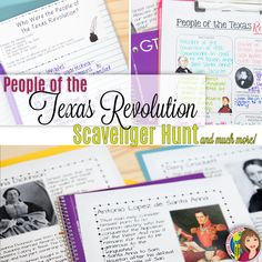Explore the important people during the Texas Revolution with this fun activity. Students will be given a clue - they then have to decipher the symbols to find the person the clue represents. Students will then take notes on their Cartoon Notes and wrap up the lesson with a processing activity.