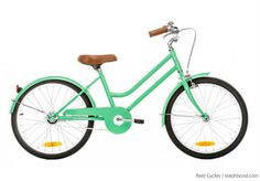 Bondville: Could this be the coolest girl's bike in Australia? Reid Cycles Beach Cruiser in mint green for girls 5-9 years.