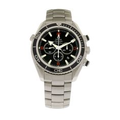 Omega Seamaster Planet Ocean Chronograph watch. Get yours: http://www.palisadejewelers.com/portfolio/planet-ocean-chrono/