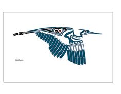 Started thinking about animals in an icon, and for me, it'd be birds (or horses). Great blue herons are my spirit animal. Love Northwest Indian art, too. Inuit Kunst, Inuit Art, Arte Haida, Haida Art, Arte Tribal, Tribal Art, American Indian Art, Native American Art, Doodles Zentangles