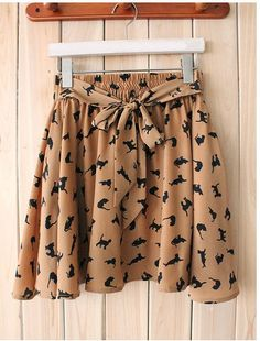 Women Cat Kitten Kitty Mini Short Skirt by GetOutYourPretty, $33.80