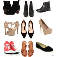 A fashion look from April 2014 featuring platform shoes, suede pumps and flat black boots. Browse and shop related looks. Capsule Wardrobe, Shoe Bag, Stuff To Buy, Accessories, Shopping, Shoes, Design, Women, Fashion