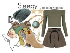 """""""Sleepy"""" by leslieakay ❤ liked on Polyvore featuring Chan Luu, 7 For All Mankind, 3.1 Phillip Lim, WithChic, Monica Rich Kosann, Jennifer Meyer Jewelry, Daria de Koning, disney, disneybound and disneycharacter"""