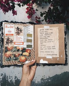 — heal inside out // art journal + poetry by noor unnahar  // journaling scrapbooking diy craft ideas inspiration for college teens, tumblr hipsters aesthetics indie grunge, poetry poetic words handwritten inspiring, instagram photography manual collage paper notebook //