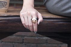 Pug Ring by GOODAFTERNINE on Etsy