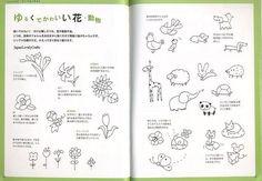 Yurukawa Illustration Japanese kawaii by JapanLovelyCrafts Kawaii Drawings, Doodle Drawings, Easy Drawings, Doodle Art, Drawing Sketches, Pen Drawings, Kawaii Illustration, Japanese Illustration, Pen Doodles