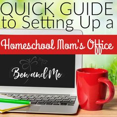 I love my laminator and pro-click.  Find out what other tools are totally valuable in setting up your #homeschool #teachers office!
