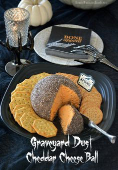 Graveyard dust cheddar cheese ball from Home is Where the Boat is