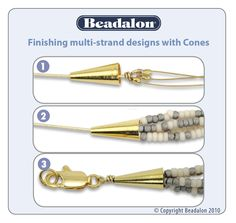 How to use a beading cone.  #Beading #Jewelry #Tutorials