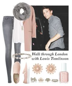 """Walk through London with Louis Tomlinson"" by tonioverthetop ❤ liked on Polyvore featuring J Brand, Topshop, Metal Pressions, River Island, H&M, Forever New, Essie, Floozie by Frost French and Tiffany & Co."