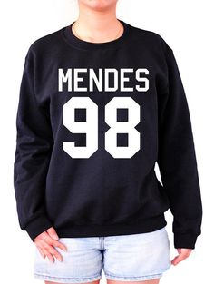 MENDES 98 Sweatshirt Sweater Crew neck Shirt shawn shirt screen on black shirt– Size S M L XL from Noonew on Etsy. Saved to Sweatshirts.