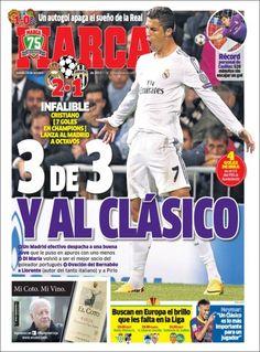 Los Titulares y Portadas de Noticias Destacadas Españolas del 24 de Octubre de 2013 del Diario Marca ¿Que le pareció esta Portada de este Diario Español?