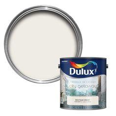 Dulux Travels In Colour Boutique Cream Flatt Matt Emulsion Paint 2.5L | Departments | DIY at B&Q