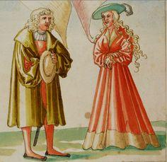 Gut gekleideter Mann und fürstliche Frau. Warnung vor einseitigem Begehren (hier nach Reichtum).