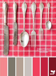 Reds and warm grays--vintage homeiness!
