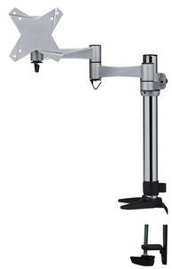 TV-/näyttöteline pöydälle Exibel 60€   3-nivelinen alumiinikiinnike televisiolle, näytölle ym. Kääntyvä ja pyörivä asennuslevy. 8 kg