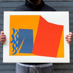 Silkscreen prints by Harold Krisel. Evocative of Mattise's paper cutouts, but in the bolder color and motifs of mid-century art. Gorgeous!