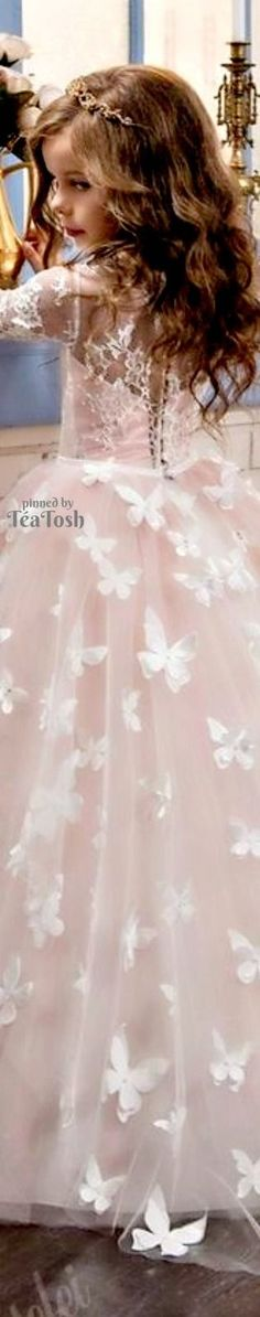 ❇Téa Tosh❇ Butterfly Flower Girls Dress