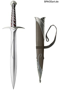 Der Hobbit: Bilbos Schwert Stich (mit Scheide), Fertig-Modell ... http://spaceart.de/produkte/hbt001.php