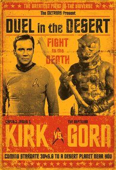 "Star Trek(TOS) episode ""Arena"" fight poster mock up. Star Trek Tv, Star Wars, Best Star Trek Episodes, Science Fiction, Doctor Who, Arte Sci Fi, Perry Rhodan, Star Trek Original Series, William Shatner"