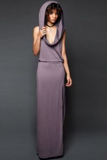 Hooded Cut Out Maxi Dress