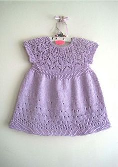 Ravelry: Evie Dress pattern by Suzie Sparkles. Hand Knitting pattern baby & girls dress. for baby to 6 year old girl. Knitted dress knitting pattern baby babies girls
