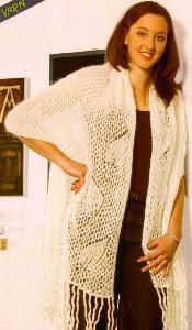 Naturally N1043 1 Ply Mist Shawl Knitting Projects, Yarns, Shawls, Kimono Top, Cover Up, Country, Pattern, Tops, Dresses