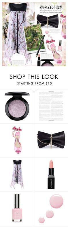 """♡ WIN A $20 CASH FROM GAMISS.COM ♡"" by astromeria ❤ liked on Polyvore featuring MAC Cosmetics, Grace, Sophia Webster, Jimmy Choo, Smashbox, Topshop and NYX"