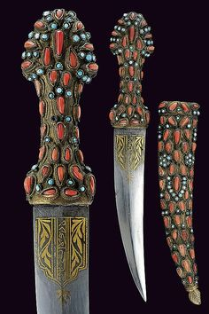 A dagger decorated with cabochon, Turkey, ca. 19th century.
