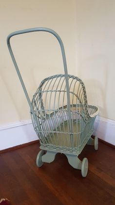 Vintage Wicker Doll Carriage Circa 1920's from dovetail on Ruby Lane