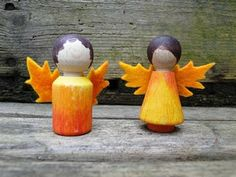 we bloom here: peg doll swaps: photo gallery: felt leaf cut outs?
