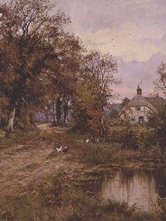 Edward Wilkins Waite~A Country Road in Autumn, 1918