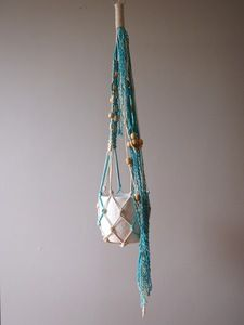 Image of :: Tassel Top Hanger - Turquoise