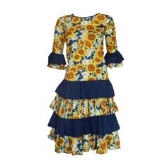 New in store: Fabulous vintage sunflower print rara party dress, flamenco style!  http://www.pennydreadfulvintage.com/product/day-dresses/vintage-80s-sunflower-print-rara-party-dress/