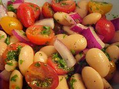 la table en fête : Salade de haricots blancs italiens, vinaigrette à la moutarde
