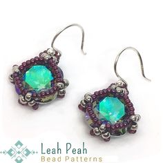 "Leah Wyckoff on Instagram: ""ASTEROID EARRINGS Digital Download pattern tutorial officially posted on my Etsy! **Leah Peah Bead Patterns** Great beginner beading…"""