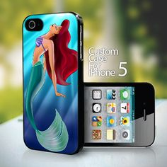 Ariel The Little Mermaid On Tiffany Blue design for iPhone 5 case