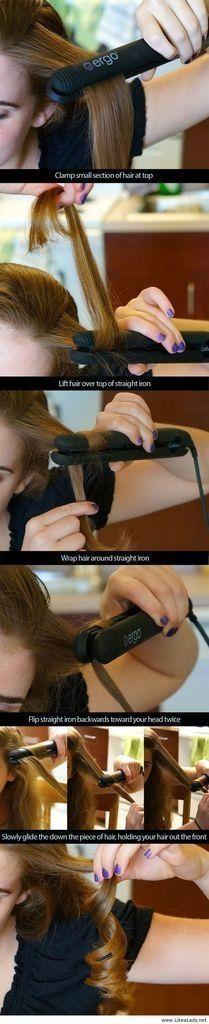 como ondular tu cabello con plancha #tutorial #DIY