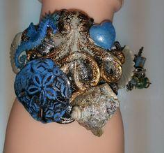 August Challenge 8-29--Ocean Surprize Bracelet.  SLG Jewelry Designs https://www.etsy.com/shop/SLGJewelryDesigns?ref=hdr_shop_menu