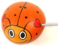 Rock Painting Project: Valentine Love Bugs - How to get started painting rocks