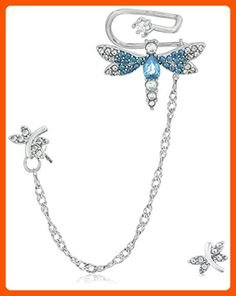 """Betsey Johnson """"Spring Critters"""" Cubic Zirconia and Dragonfly Ear Cuffs - All about women (*Amazon Partner-Link)"""