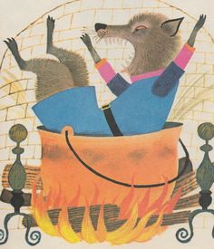 my vintage book collection (in blog form).: The Three Little Pigs - illustrated by Art Seiden