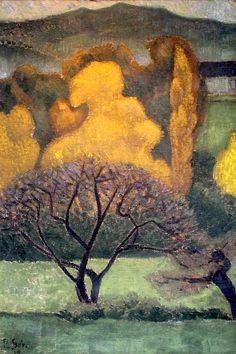☼ Painterly Landscape Escape ☼  landscape painting by PAUL SERUSIER (1864 - 1927) - Brumes d'automne
