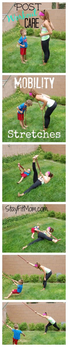 Mobility stretches for post workout care at StayFitMom.com.