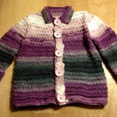 paars vestje #breien #donatie #kinderkleding #breiNwerk #NAH