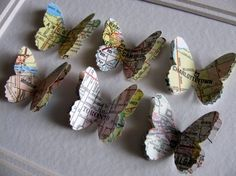 Map Butterflies | 19 DIY Projects For The Travel Obsessed